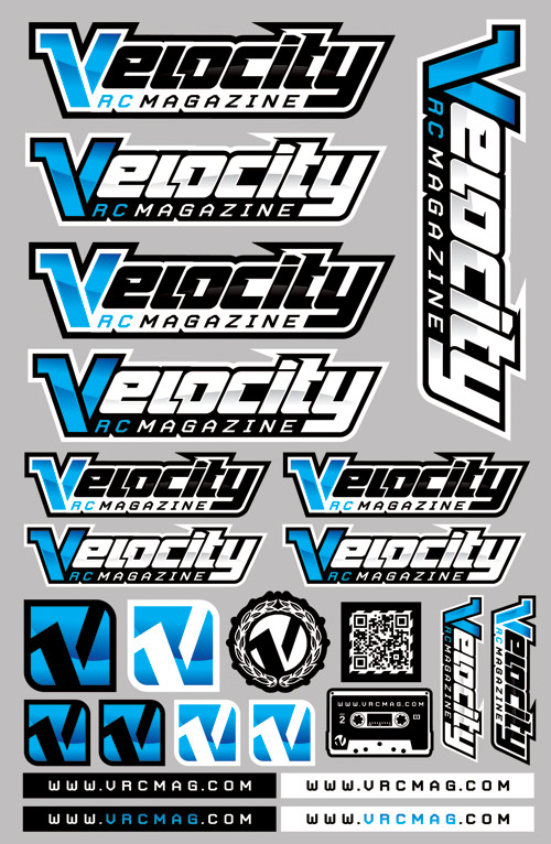 Blue velocity rc magazine sticker sheet buy these stickers or we will drive to your house and junk punch you full decal sheet measures 6″ x 9″